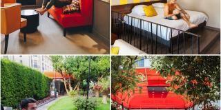 Travel blogger at the Hotel Brice Garden Nice